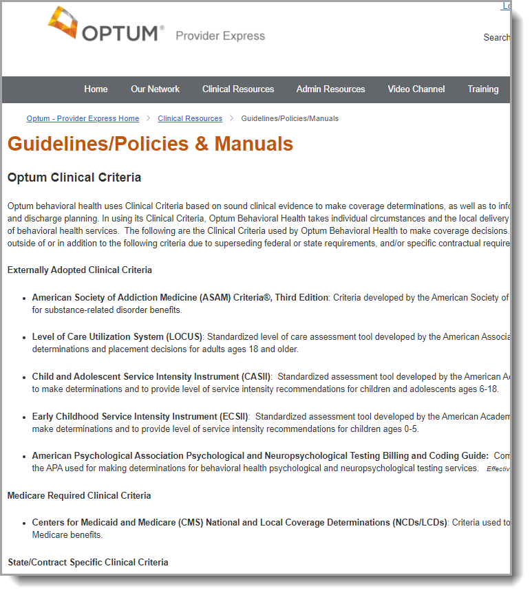 Find the Coverage Determination Guidelines on the Guidelines/Policies & Manual Page